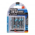 Ansmann Premium 2850mAh NiMH AA Rechargeable Battery 4 Pack