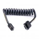 Atomos AtomX HDMI (Type-A) Male to Micro-HDMI (Type-D) Male Coiled Cable (30-60cm)