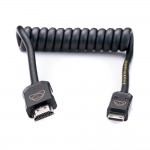 Atomos AtomX HDMI (Type-A) Male to Mini-HDMI (Type-C) Male Coiled Cable (30-60cm)