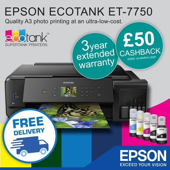 Epson Eco Tank warranty offer banner
