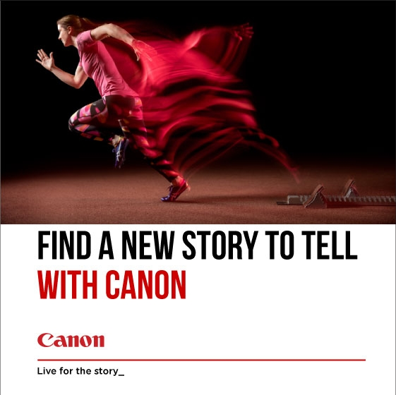 Canon Find a new story to tell banner