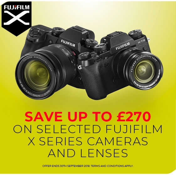 Fujifilm Instant discount on X-T2 and X-H1 Lens promotional banner