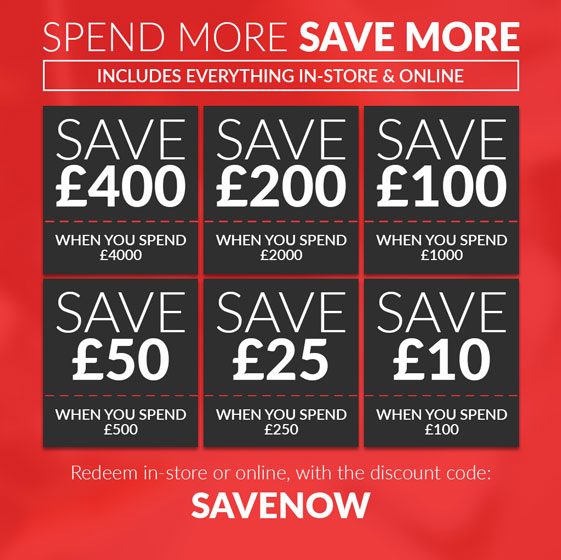 Spend and Save Sale - NOW ON!