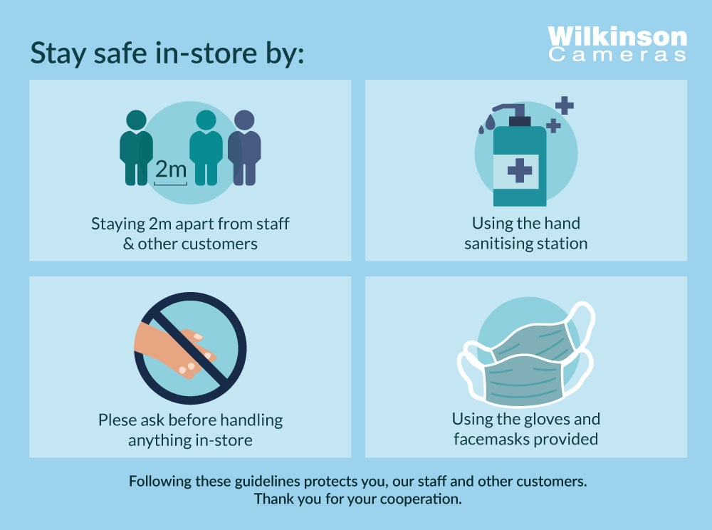 Covid-19 in-store procedures at Wilkinson Cameras