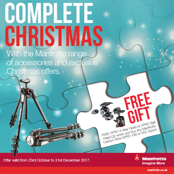 Free Manfrotto head with selected tripods