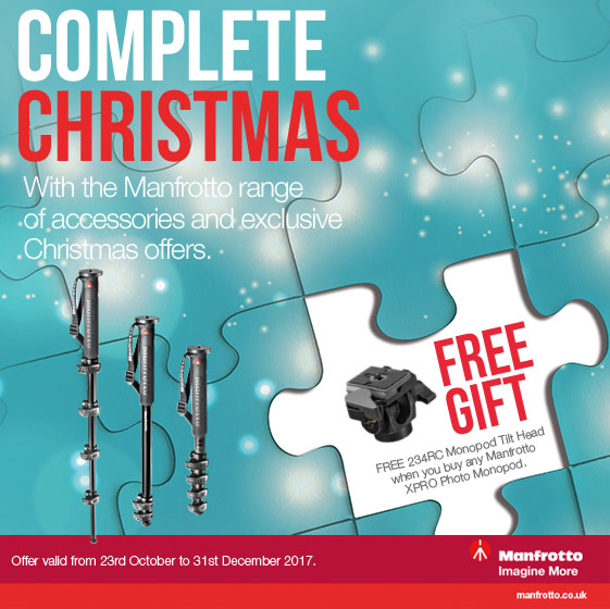 Free Manfrotto head with selected monopods