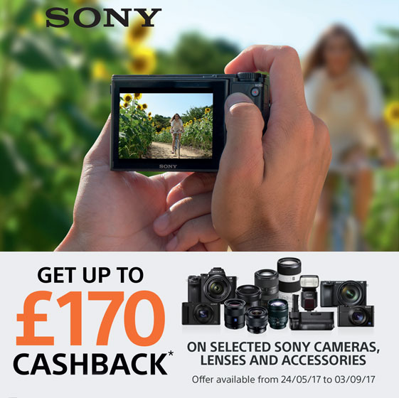 Sony Summer Cashback - ends 03/09/17