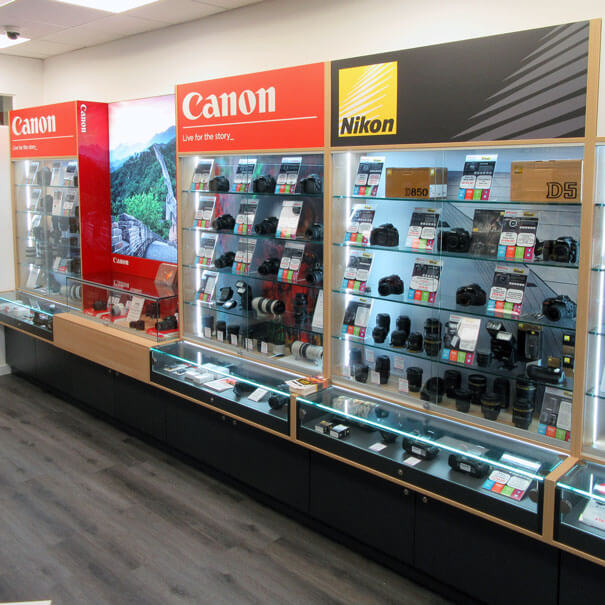 Wilkinson Cameras Liverpool Canon & Nikon DSLR displays