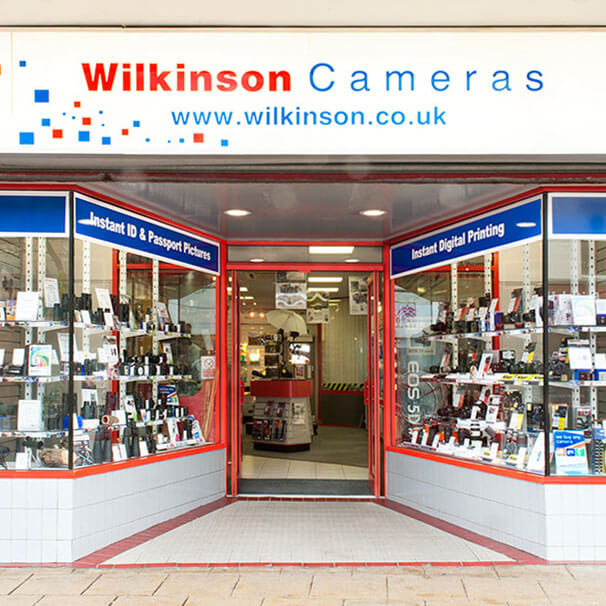 Wilkinson Cameras Burnley store windows