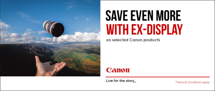 Save with Canon Ex-Display