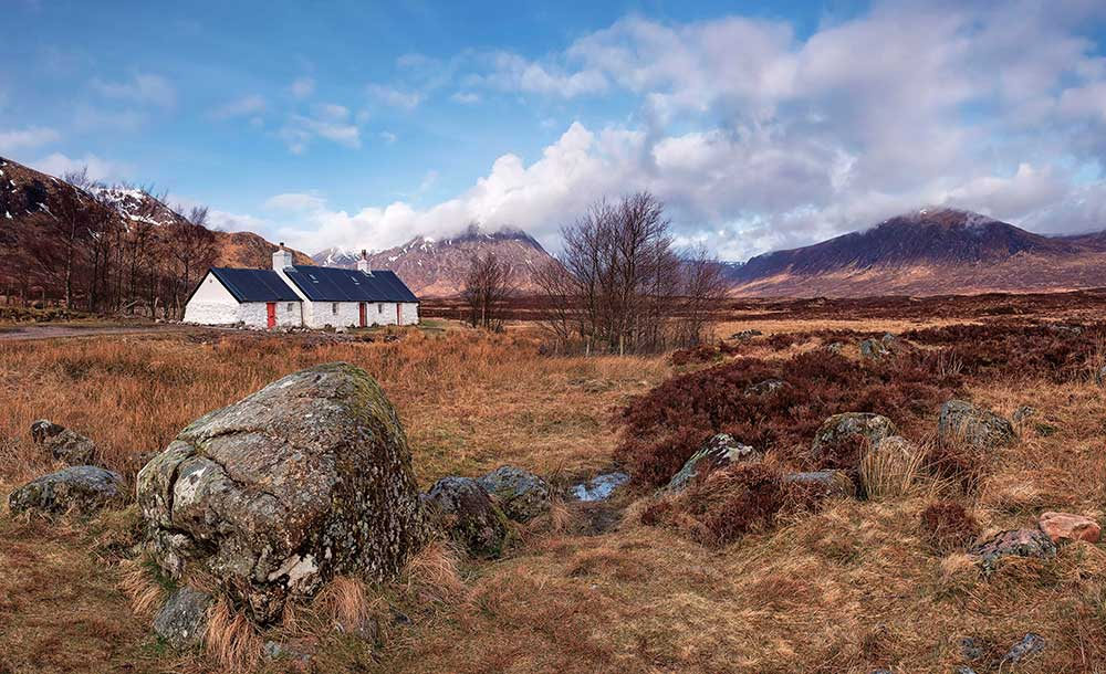 Black Rock Cottage, Glencoe, Scotland. Top 12 Autumnal Landscape Locations