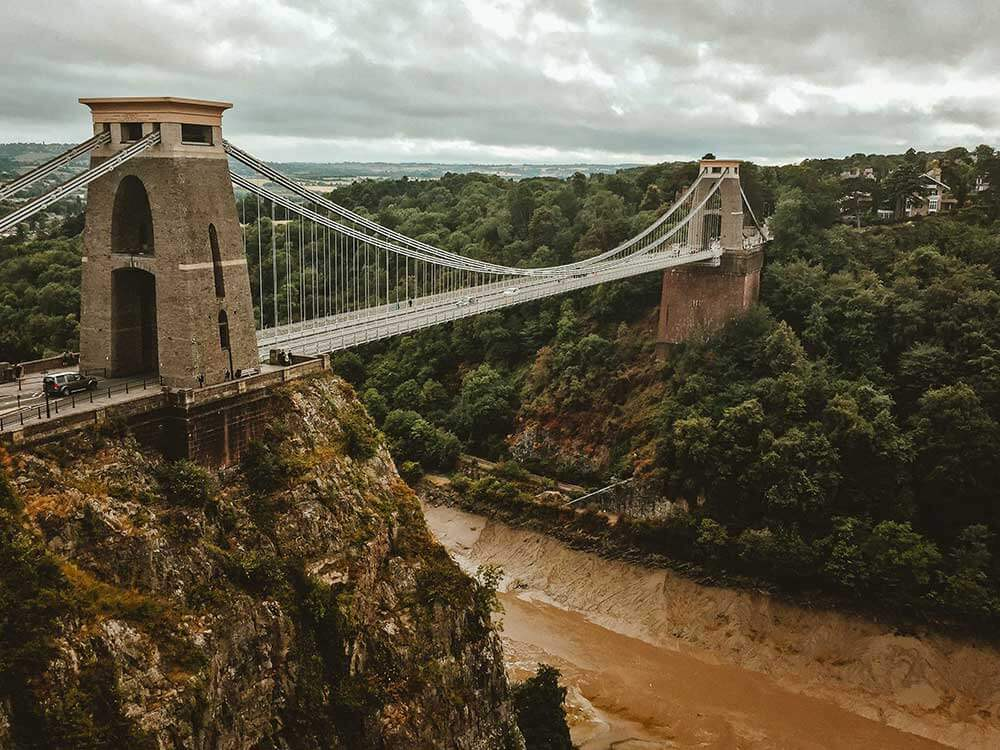 Clifton Suspension Bridge, River Avon, South West England. Top 12 Autumnal Landscape Locations