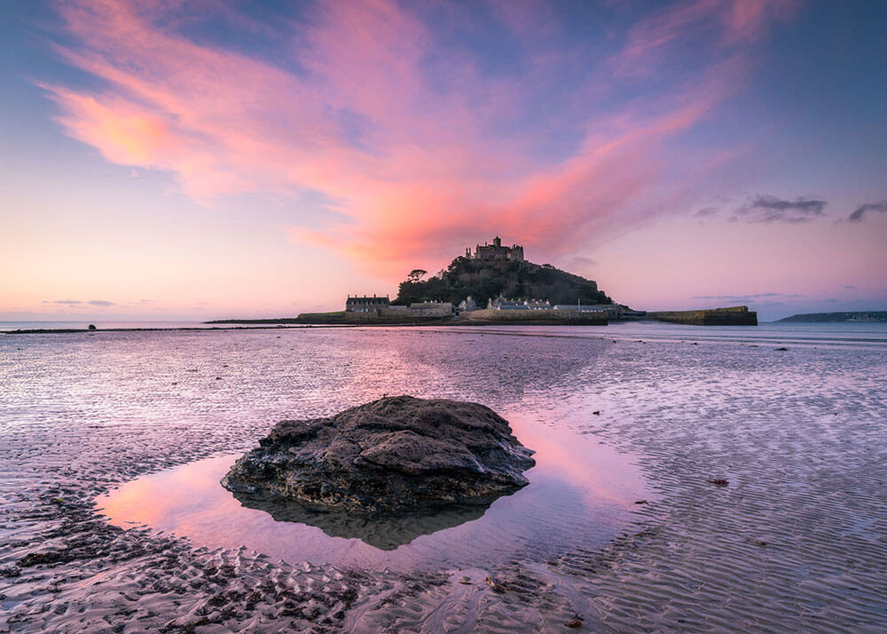 St Michael's Mount. Cornwall. Top 12 Autumnal Landscape Locations