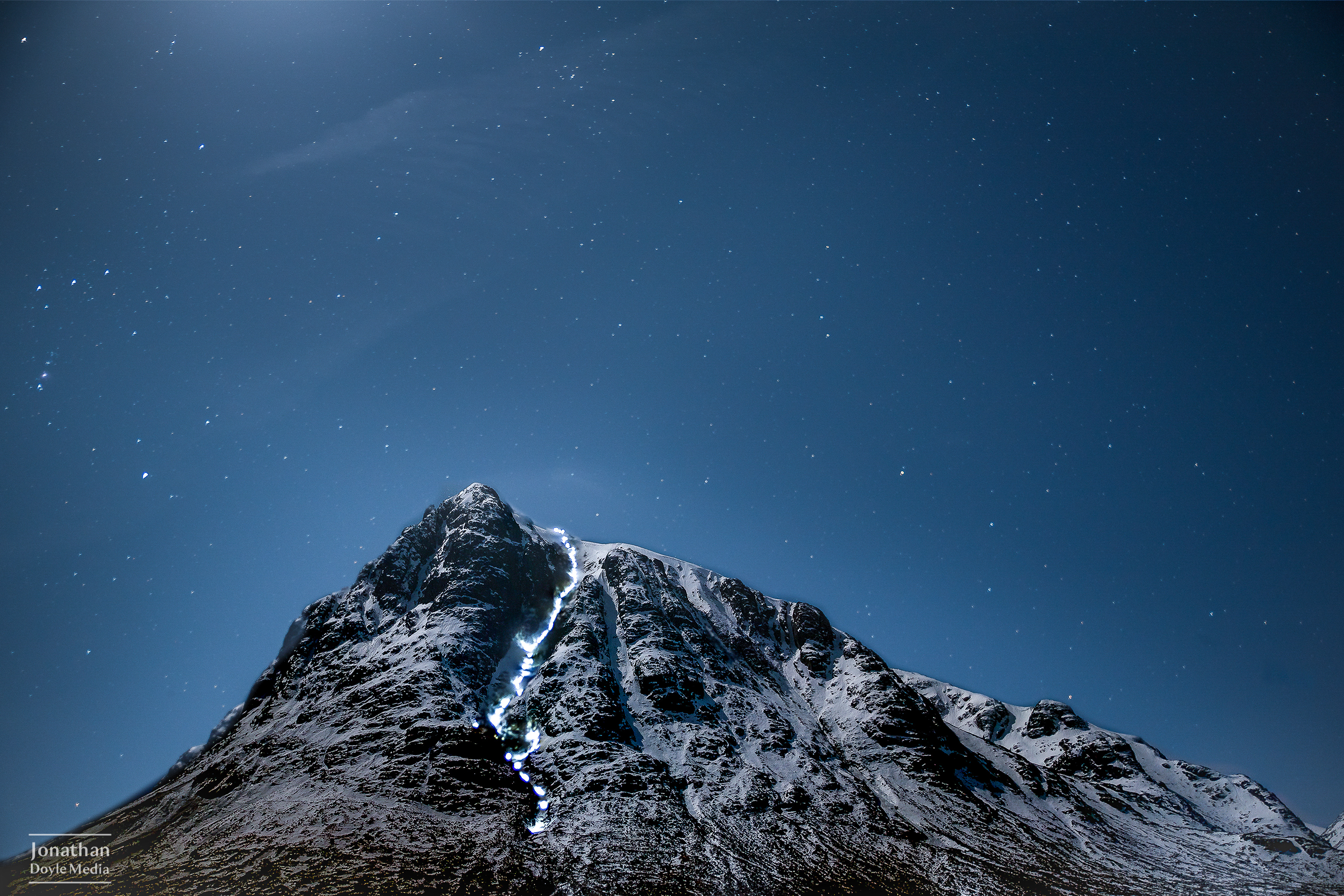 Bauchialle Etive Mor at night.