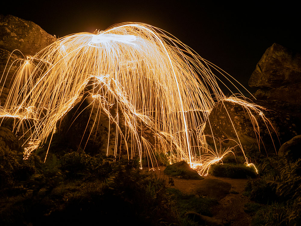 Wire Wool Long Exposure by Andrew Warn