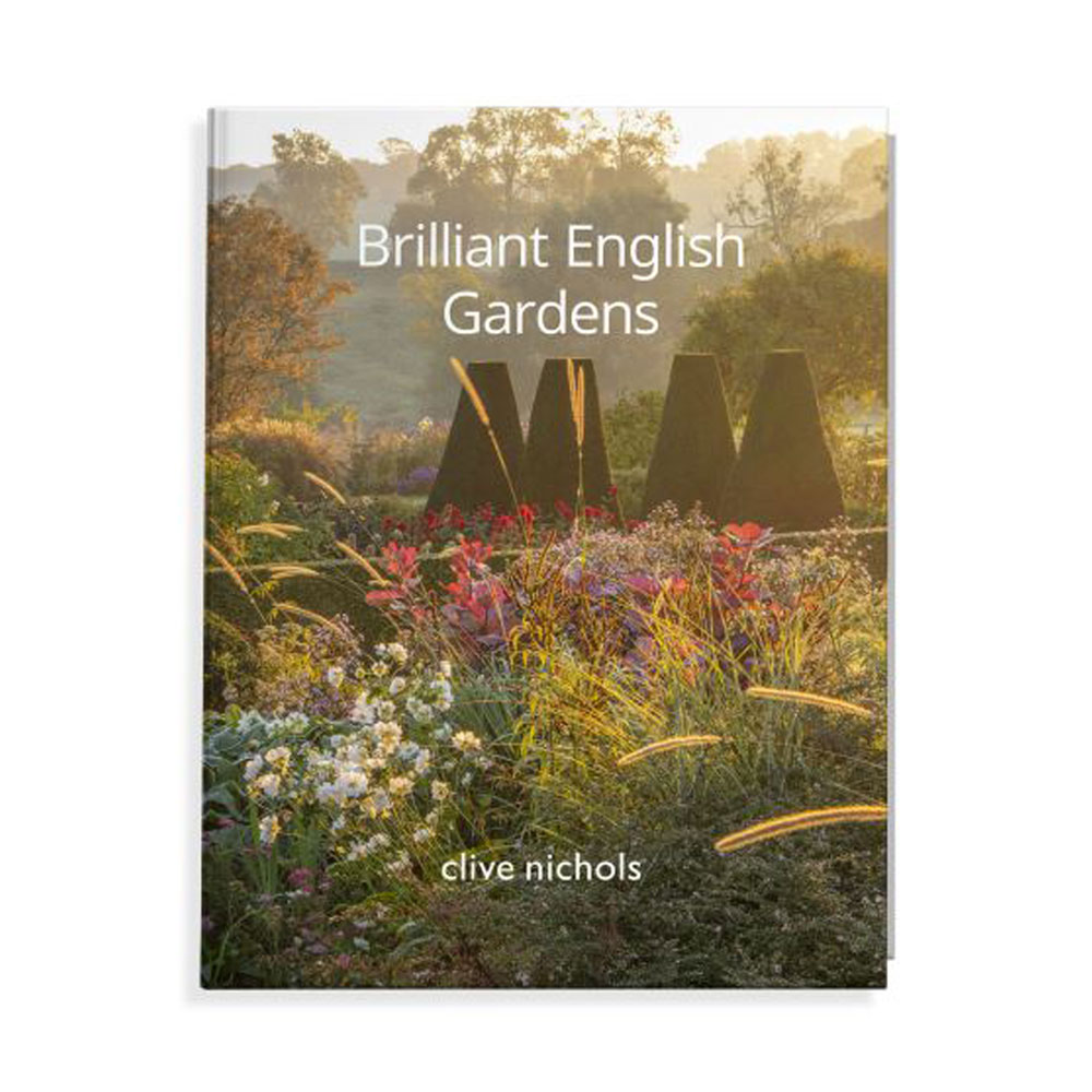"front cover of ""Brilliant English Gardens"" book by Clive Nichols"